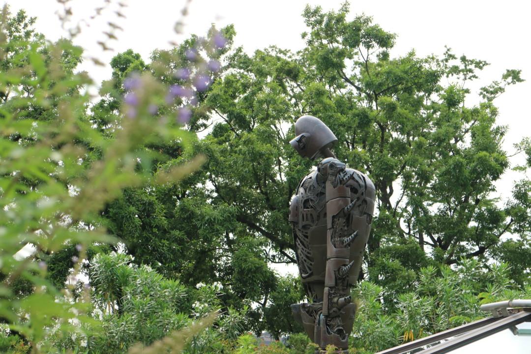 花とロボット兵