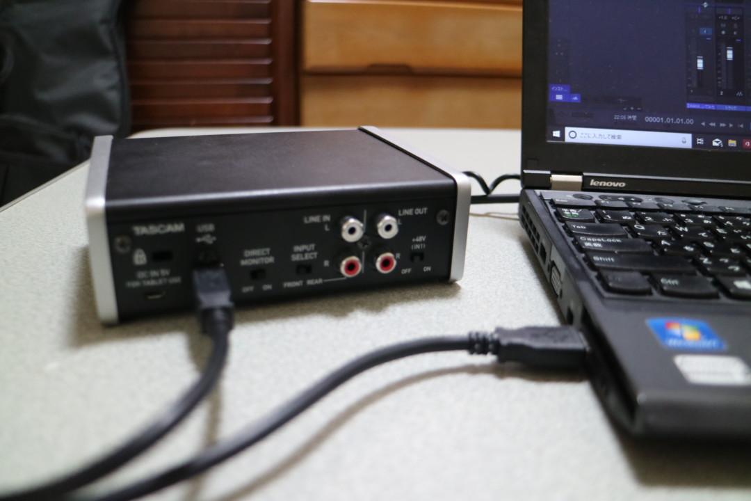 TASCAM US-1x2 PC接続
