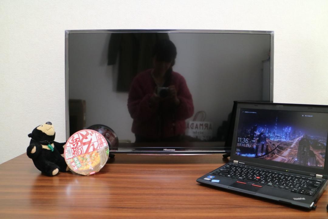 HISENSE 32型TV 外観
