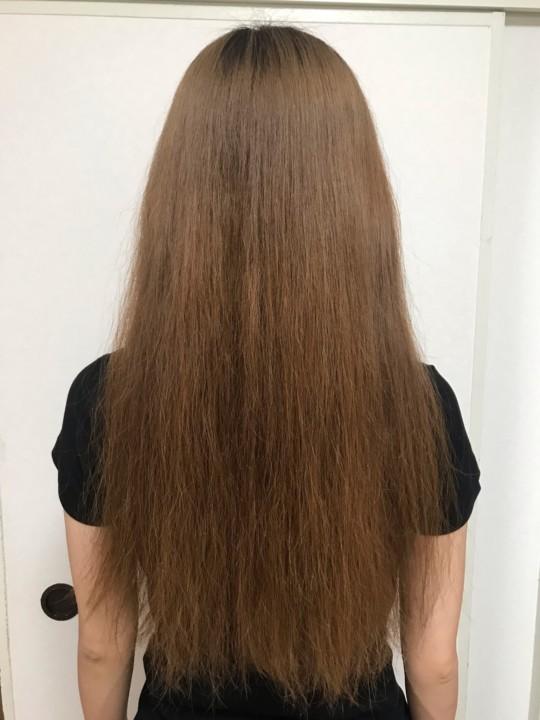 ワックスを塗る前の髪